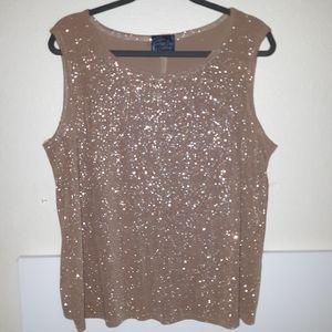2x Sparkle fancy top sleeveless shell
